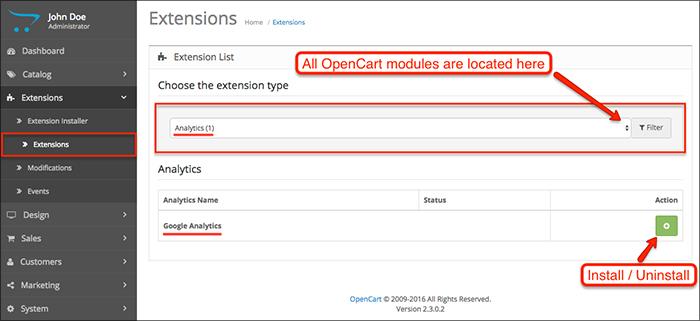 latest OpenCart version 2.3.0.2